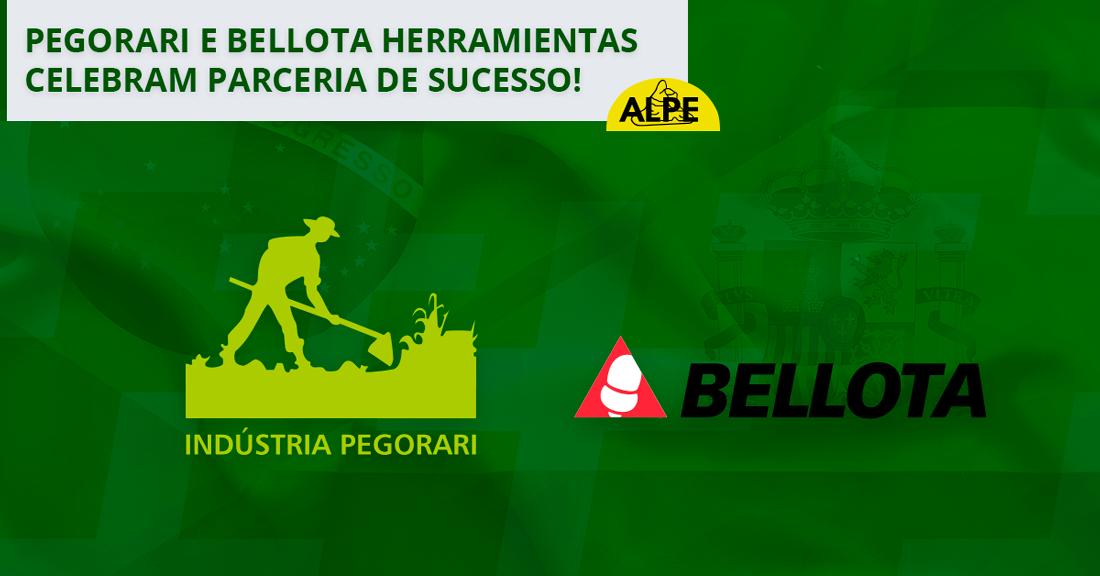 Pegorari e Bellota Herramientas celebram parceria de sucesso.